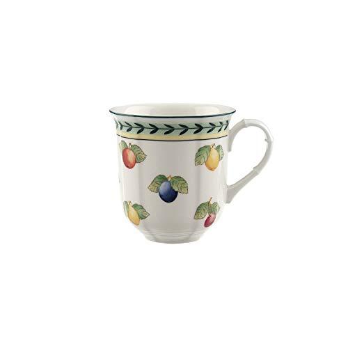 Villeroy & Boch French Garden Fleurence Kaffeebecher, 300 ml, Höhe: 9 cm, Premium Porzellan, Weiß/Bunt