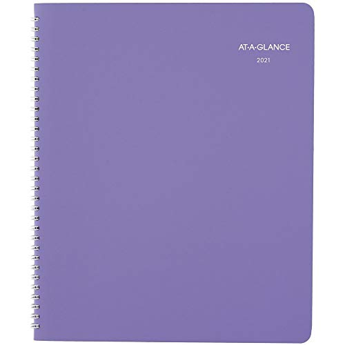 2021 Monthly Planner by AT-A-GLANCE, 8-1/2' x 11', Large, Beautiful Day, Lavender (938P-900-21)