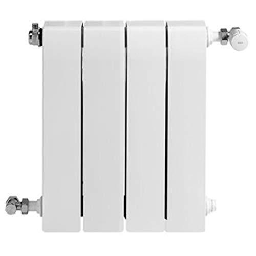 Baxi Radiador de aluminio de alta emisión térmica Batería, 4 elementos, serie Dubal 60, 8,2 x 32 x 57,1 centímetros (Referencia: 194A25401), blanco