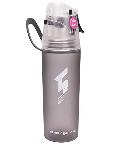 Beber y rociar deportes Botella de agua, Sin BPA & Eco-Friendly Tritan, rápido flujo de agua se abre con 1-Click, Spray a prueba de fugas portátil para ciclismo Camping Senderismo al aire libre
