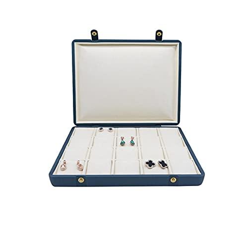 Wilany Cajas de joyería para embalaje de anillos, pendientes, charola, anillos, bandejas de exhibición, exhibición de joyas, caja de almacenamiento de joyas con cierre pequeño organizador de joyas