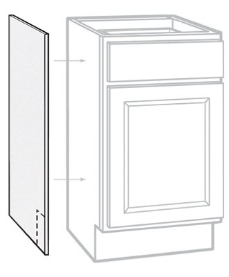 "Rsi Home Products Sales 2 Pack 24"" W X 35"" H X 1/4"" D White Finish Base Cabinet End Panel"