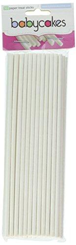 Babycakes Treat Sticks, 6″, White