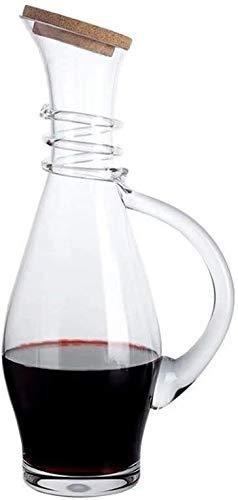 DYB Decantador de whisky creativo Decantador de vino tinto para el hogar Decantador rápido pequeño vino tinto jarra de vino cristal Set 1,1 l (color 1,1 l)