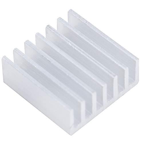 NEYOANN 50 unids disipador de calor de aluminio sacado 14x14x6mm, microprocesador CPU GPU VGA LED IC radiador, enfriador