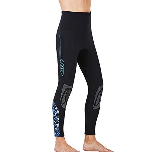 ZOULME Pantalones de Buceo térmicos de 1,5 mm de Neopreno para Hombres, Pantalones de Surf de división, Traje de Buceo Engranaje de Snorkel para lancha de Bote de Bote de bucles Kayak de Nataci