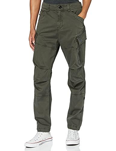 G-STAR RAW Roxic Tapered Cargo Pantalones, Verde (Asfalt 4893-995), 28W / 32L para Hombre