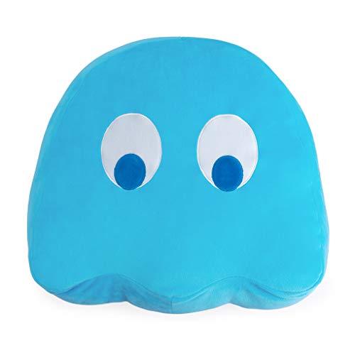 Balvi Cojín Pac-Man Inky Color Azul En Forma del icónico Personaje de Videojuego Pac-Man Poliéster 35cm