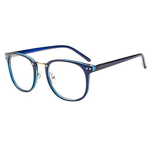 Montura para Gafas de Vista Lente Claro Moda Grandes Antiguas Clara Glasses para Mujer y Hombre