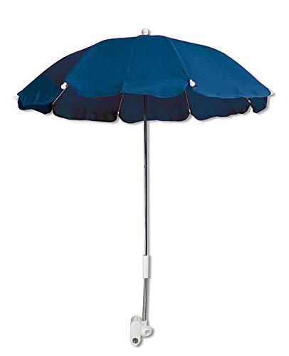 Vetrineinrete® Ombrellino per passeggino parasole universale ombrello Ø70 cm per carrozzina protezione dai raggi solari uv accessori per carrozzino blu C10