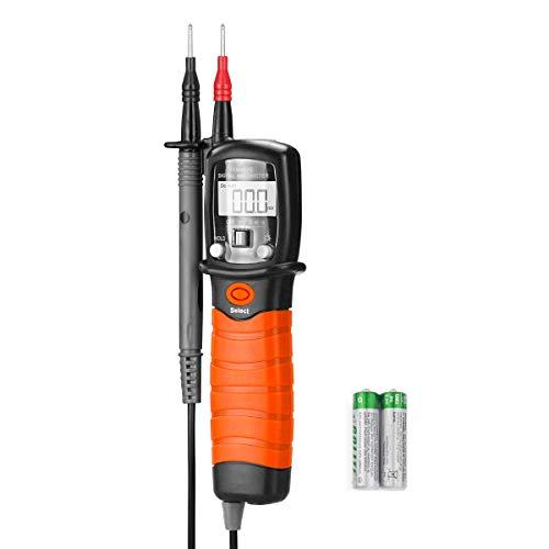 Digital Pen Multimeter AC DC 600V Voltmeter, 60M Ohm Resistance Meter, with Backlit Screen, Continuity Test Auto Power Off Electric DMM Tester(BTMETER BT-38B)