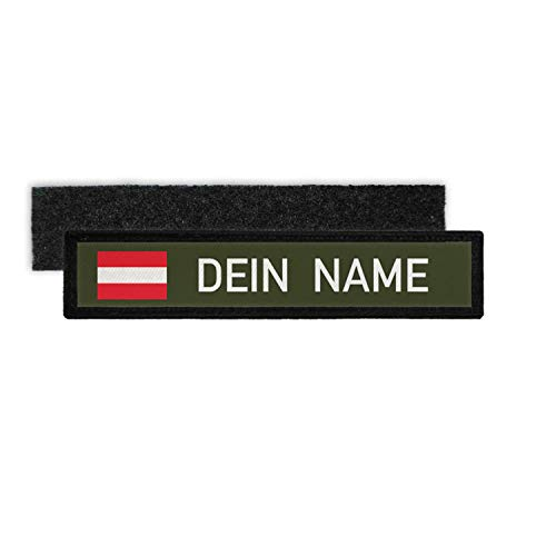 Copytec Namenspatch Österreich Oliv Name Patch Aufnäher Wunschname Klett#33230