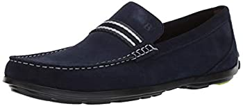 Bostonian Men s Grafton Driver Driving Style Loafer Navy Suede 100 M US