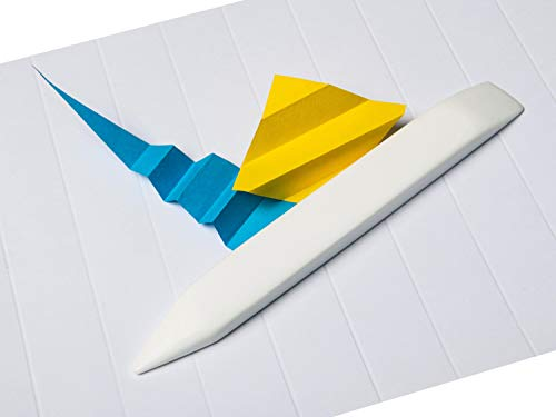 Mr HobNob Large Teflon Bone Folder - Large Handmade Tool, Best for Bookbinding, Origami, Paper Crafts, Scoring, Folding, Creasing. Non Scratch, Non Glaze, Non Stick. Smooth, Ergonomic and Handmade