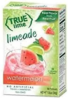 True Lime, Watermelon Limeade Drink Mix 10 packets (Pack of 6)