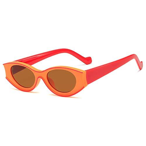 Gafas de Sol Sunglasses Gafas De Sol De Ojo De Gato Ovaladas Únicas De Moda para Mujer, Diseño De Montura Gruesa, Gafas De Sol Negras Y Verdes, Gafas De Sol Retro para Ho