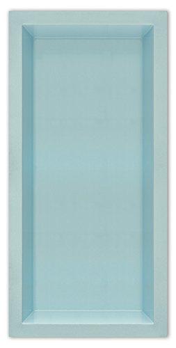 M+W Gartenflair GFK Teichbecken rechteckig | Teichschale | Gartenteich | 2500 Liter | 3700 x 1800 x 520 mm (Schwarz) (Blau)