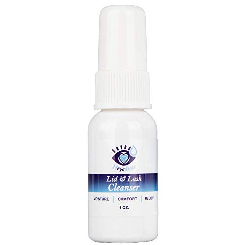 Heyedrate Lid and Lash Cleanser for Eye Irritation and Eyelid Relief, Gentle Hypochlorous Acid Eyelid Cleansing Spray (1 Ounce)