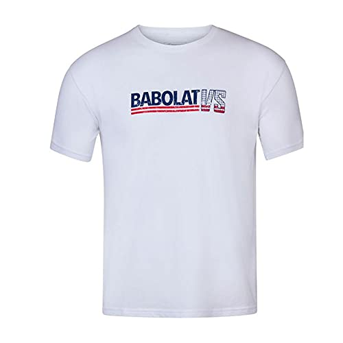 Babolat Exercise Vintage Tee Men T-Shirt pour Homme S Blanc/Blanc