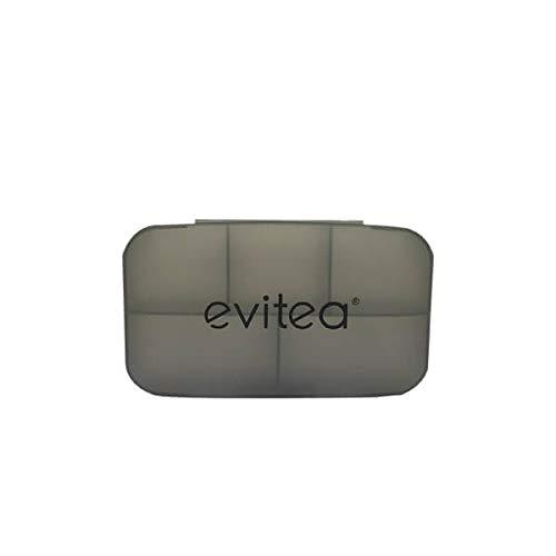 Pillenbox | 5 Fächer | BPA Frei Pillendose Medikamentenbox | Hergestellt in Deutschland - Schwarz