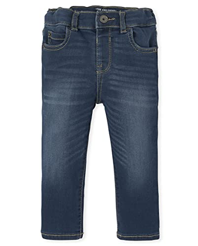 The Children's Place Baby and Toddler Boys Stretch Skinny Sweatpant Jeans, Trager WASH, 12-18 Months