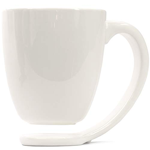 Plain White Porcelain Mug and Handle Best Gift Ideas For Coffee And...