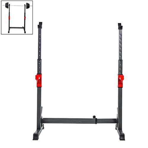 Ajustable En Rack con Barra Jaula De Sentadillas Peso Equipo De Formación Home Fitness Equipment Equipo De Ejercicio Equipo De Entrenamiento Muscular (Color : Black, Size : 110x55x170cm)