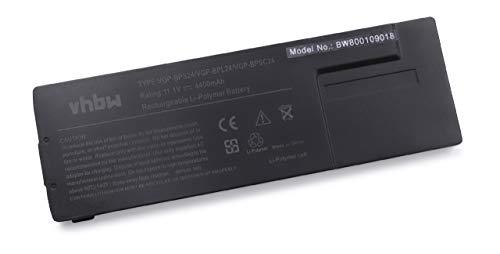 vhbw Li-Ion Akku 4400mAh (11.1V) für Notebook Laptop Sony Vaio VPC-SB2L1E, VPC-SB2M9E, VPC-SB35FA/L, VPC-SB35FG, VPC-SB35FG/B wie VGP-BPS24.