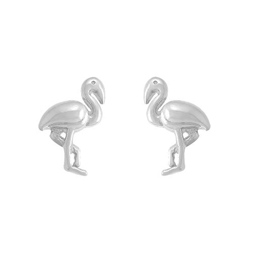 Boma Jewelry Sterling Silver Flamingo Bird Stud Earrings