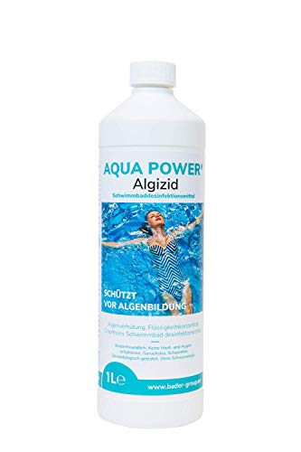 Algizid für Pool zur Algenverhütung chlorfreie Poolpflege | chlorfreie Wasserpflege für Pool | Algenvernichter | gegen Algen | für Pool und Whirlpool | chlorfreie Wasserpflege kein | hochwirksam