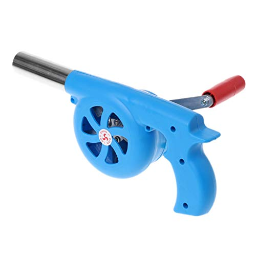 BBQ Fan Top Manual Forge Blower Hand Crank Bellows Manual Outdoor ...