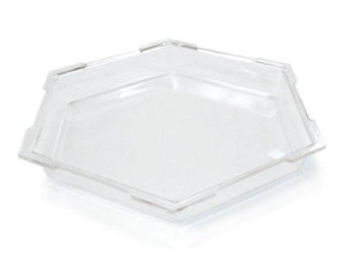 Rosseto SA102 Acrylic Hexagon Ice Bath Cooler, Large, Clear