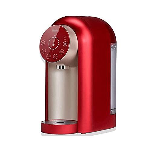 Dispensador de agua caliente instantánea de bolsillo Mini dispensador de agua con temperatura ajustable y volumen de agua Diseño silencioso: hervir el agua en solo 3 segundos (Color : Red)