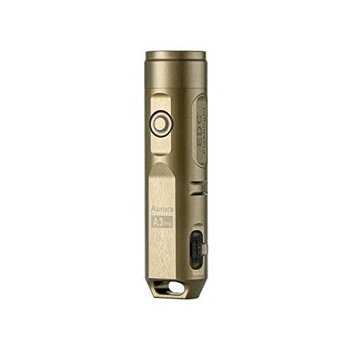 RovyVon Aurora A3 Pro LED-Taschenlampe, Superhelle Taschenlampe mit 5-Modus, wiederaufladbare EDC-Schlüsselbund-Taschenlampe, Aluminiumgehäuse für die Luft- und Raumfahrt