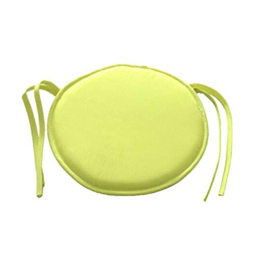 Juego de 2 cojines de cocina antideslizantes redondos de algodón suaves para sillas de oficina, sillas de comedor, patio, jardín, lavables, con lazos de 28 x 28 cm