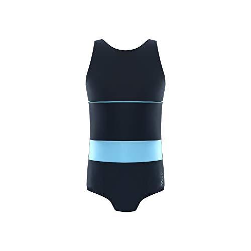 Eono Essentials Einteiliger Badeanzug mit hohem Rückenausschnitt für Mädchen, 16 Jahre