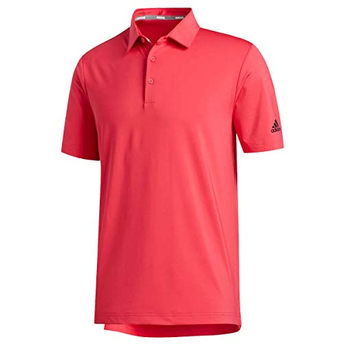 adidas Golf Mens Ultimate365 20 Crestable Polo Shirt Power Pink L