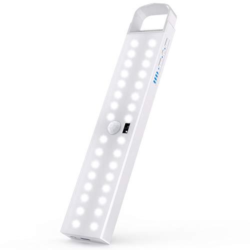LEDClosetLight,32-LEDHandwaveActivatedMotionSensorWirelessUnder Cabinet Lighting, Rechargeable LightingStick-AnywhereNightLightBarforGunSafe, Stairs,Wardrobe,Kitchen,Hallway
