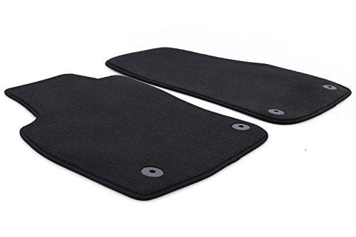 kh Teile Fußmatten Astra H Set Velour Original Qualität Autoteppich schwarz 2-teilig vorn