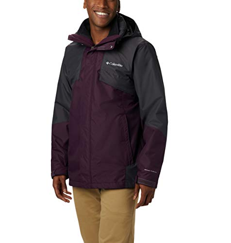 Columbia Men's Bugaboo Ii Fleece Interchange Jacket, Black Cherry, Shark, Large