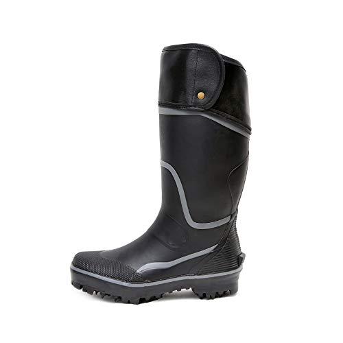 Botas de lluvia altas para hombre, de plástico, de camuflaje, de tubo medio, impermeables, Botas de lluvia para mujer, botas con acabado mate