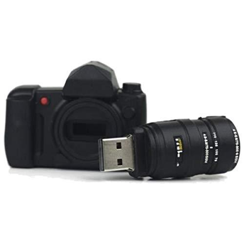 Macchina Fotografica con Obiettivo 8 GB - Foto Camera with Lens - Chiavetta Pendrive - Memoria Archiviazione dei Dati - USB Flash Pen Drive Memory Stick - Nero