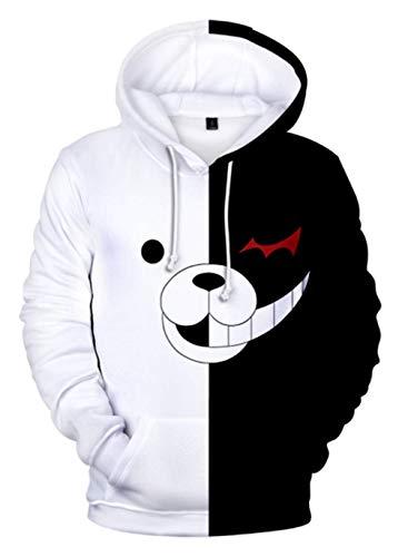 Cosstars Anime Danganronpa Monokuma 3D Digitaldruck Kapuzenpullover Hoodie Cosplay Kostüm Pulli Sweatshirt Tops Mäntel 3 M