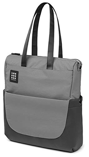 Moleskine ID Collection Borsa a Tracolla Verticale Device Bag per Pc, Tablet, Notebook, Laptop e iPad fino a 15'', Dimensioni 24 x 10 x 38 cm, Colore Grigio Ardesia