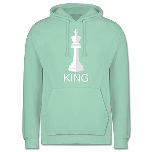Karneval & Fasching - Kings Schachfigur Karneval Kostüm - XL - Mint - Karneval kostüm Herren 3XL - JH001 - Herren Hoodie und Kapuzenpullover für Männer