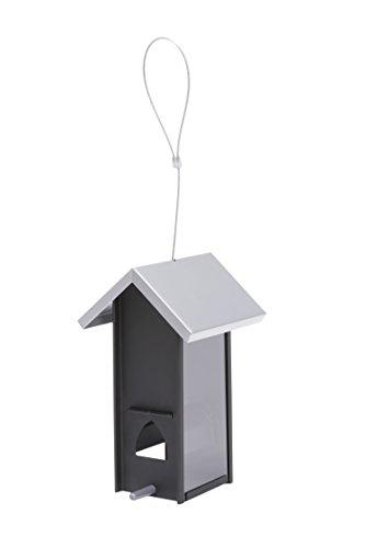 Perky-Pet Vogelhaus in modernem Design - Geeignet für kleine Gärten und Balkone - Füllkapazität 0,3 kg - Mod. ML019