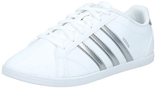 Adidas Coneo Qt, Zapatillas para Mujer, Blanco (Footwear White/Matte Silver/Footwear White 0), 38 EU