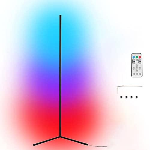 Tuya Wifi Smart Life RGB LED Lampada da terra ad angolo Lampada da sfondo per atmosfere Lampada da terra vivente Illuminazione da terra Compatibile con Google Home