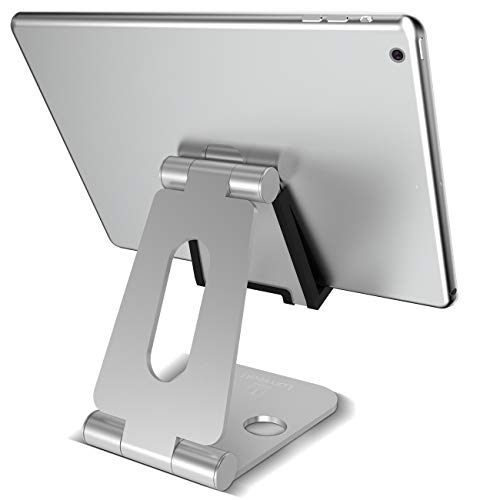 Tablet Stand Adjustable, Lamicall Tablet Holder Dock for Desk Kitchen, Compatible with...