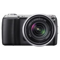 Sony NEXC3KB - Cámara compacta de 16.5 Mp (pantalla de 3 pulgadas, estabilizador de imagen) con lente intercambiable de 18-55mm y sensor Réflex, color negro